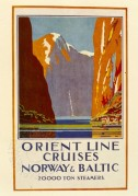 Poster for Orient Line Cruises