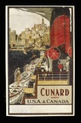 Poster for Cunard, U.S.A. and Canada