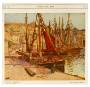 Painting of Brixham harbour