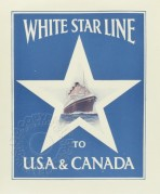 Poster for White Star Line to USA and Canada