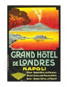 Advert for Grand Hotel de Londres in Napoli