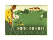 Advert for Hotel du Golf in Deauville