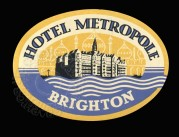 Luggage Label for the Hotel Metropole in Brighton