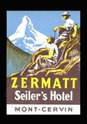 Poster for Seiler's Hotel in Zermatt