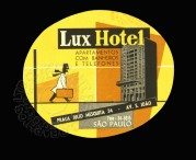 Luggage Label for Lux Hotel in Sao Paulo, Brazil
