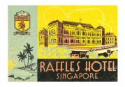 Advert for Raffles Hotel, Singapore