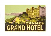 Poster for Cannes Grand Hotel, France