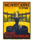 Advert for Hotel Petrolini, Montecatini