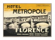 Label for Hotel Metropole, Florence