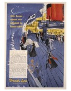 USA Magazine Advert for French Line Shipping