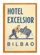 Label for Hotel Excelsior, Bilbao