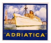 Shiping Label for the Adriatica Line