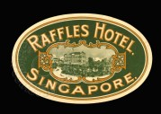 Luggage Label for Raffles Hotel, Singapore