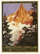 Tourism Poster for Mont Blanc