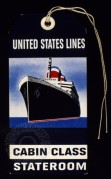 Luggage Label for United States Lines