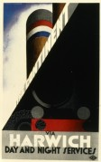 Poster for LNER Day and Night Services to The Continent