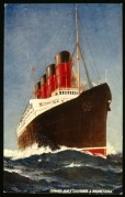 Cunard Poster for RMS Lusitania and RMS Mauretania