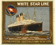 Stamped Ticket for the White Star Line