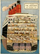 A Cross Section of The Aquitania