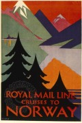 Poster for Royal Mail Line Cruises to Norway