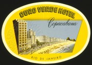 Luggage Label for Ouro Verde Hotel in Copacabana