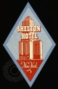 Luggage Label for Shelton Hotel, New York