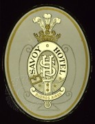 Luggage Label for Savoy Hotel, Buenos Aires