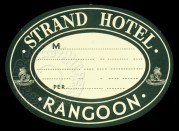 Luggage Label for the Strand Hotel, Rangoon