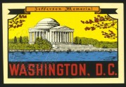Advertisng Poster for Washington D.C.