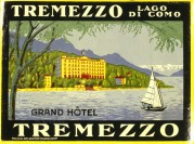 Poster for the Grand Hotel in Tremezzo, Italy