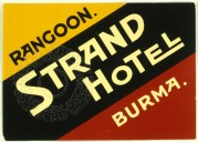 Strand Hotel, Rangoon Luggage label