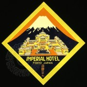 Imperial Hotel, Japan Luggage Label