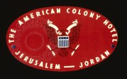 American Colony Hotel , Jordan Luggage Label