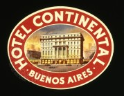 Hotel Continental, Buenos Aires Luggage Label