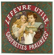 Advert for Lefevre Utile Praline Biscuits