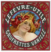 Advert for Lefevre Utile Vanilla Biscuits