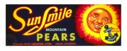Label for 'Sun Smile' Mountain Pears