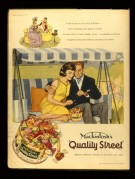 Advert for Mackintosh's 'Quality Street' chocolates and toffees
