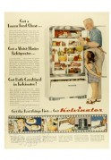 Advert for Kelvinator Refrigerator and Freezer