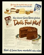 Advert for Swans Down Instant Cake Mix