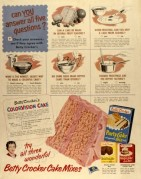 Advert for Betty Crocker Cake Mixes