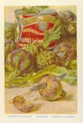 Advert for Cirio Artichokes