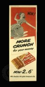Advert for Frys Crunch Milk Chocolate