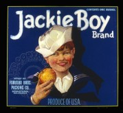 American Label for Jackie Boy Apples