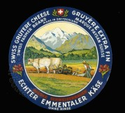 Swiss Gruyere Cheese Label