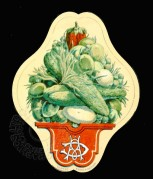 Illustrated French Vegetables Label