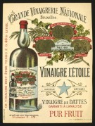 Date Vinegar Bottle Label
