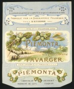 French Chocolate Bar Label