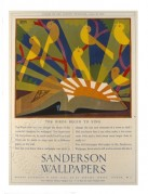 Advert for Sandersons Wallpapers, 'The Birds Begin to Sing'
