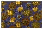Abstract blue, yellow and green pattern
